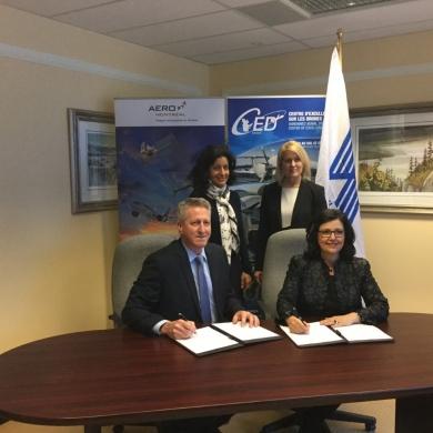 Collaboration majeure dans le créneau d'excellence des drones: Signature d'une lettre d'entente entre Aéro Montréal et le CED